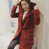 PreOrderเสื้อผ้าคนอ้วน - เสื้อกันหนาวไซส์ใหญ่ ลายสก๊อต ขนสัตว์ สี : เทา / แดง