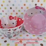 ชามเมลามีน ฮัลโหลคิตตี้ Hello Kitty ขนาดเส้นผ่าศูนย์กลาง 14 ซม. สูง 7 ซม.