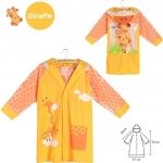 เสื้อกันฝนสำหรับเด็กสีส้มลายยีราฟ