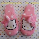 รองเท้าใส่ในบ้าน/ออฟฟิศ คิตตี้ kitty#3 ขนาด free size ลายหน้าคิตตี้โบว์ชมพูจุดขาว