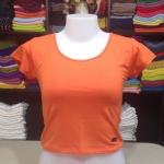 เสื้อยืดครึ่งตัว สีส้มสด