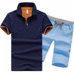 Pre Order ชุดเซ็ท2ชิ้น เสื้อโปโล แขนสั้นสีพื้น+กางเกงขาสั้นเข้าชุดกัน มี4แบบ