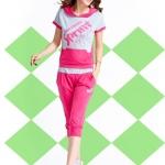 Pre Order ชุดวอร์มเกาหลี เสื้อแขนสั้นมีฮู้ด สกรีนลาย Sprint+กางเกงขาสามส่วน มี3สี