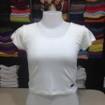 เสื้อยืดครึ่งตัว สีขาว