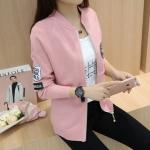Pre Order เสื้อแจ็คเก็ตแฟชั่นเกาหลี แขนยาวแนวเบสบอล มี5สี