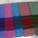 ผ้าถุงคอตต้อนไทย ลายริ้ว ลายทางสีพาสเทล
