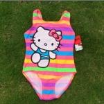 ชุดว่ายน้ำเด็ก คิตตี้ kitty ลายคิตตี้ สีรุ้ง