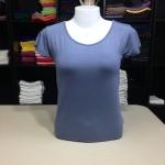 """เสื้อยืดคอกลม สีฟ้าคราม size """"M"""""""