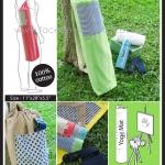 กระเป๋าใส่เสื่อโยคะ ถุงผ้าใส่เสื่อโยคะ สีเขียวพาสเทล Green Yoga Mat Bag