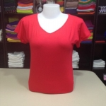 """เสื้อยืด size""""L"""" สีแดง"""