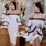 Aris Code Victoria flowering White Dress