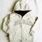 BSH-122 (4Y) เสื้อกันหนาว มี Hood สีเทาอ่อน ปักแบรนด์ Jordan บุขนแกะแท้ 100%