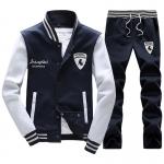 **พร้อมส่ง**ชุดวอร์มดีไซน์ Sport เสื้อแจ็คเก็ตแขนยาวปักลาย+กางเกงขายาว สีน้ำเงินเข้ม ไซส์ L