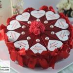 กล่องของชำร่วยงานแต่งงาน งานมงคลต่างๆ กล่องทรงขนมเค็ก 1ปอนด์มี 10ชิ้น แนวดอกไม้มุกหัวใจแต่งโบว์ด้านข้าง มีหลายแบบให้เลือกค่ะ