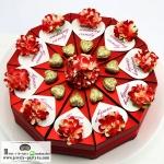 กล่องของชำร่วยงานแต่งงาน งานมงคลต่างๆ กล่องทรงขนมเค็ก 1ปอนด์มี 10ชิ้น แนวหัวใจ มีหลายแบบให้เลือกค่ะ
