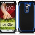 เคส LG G2 D802 (High Quality Fashion Hard Armor TPU+Silicone Back Cover Rubber Protective)