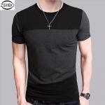 ZSIIBO เสื้อยืดคอกลม แขนสั้น (สีดำ-เทา)