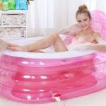อ่างอาบน้ำเป่าลม ทรงรี รุ่น pink princess (New Design 2015)