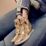 Pre Order รองเท้าผ้าใบผู้หญิง หนังเงากันน้ำ ระดับไฮเอนด์ สไตล์เกาหลี มี2สี