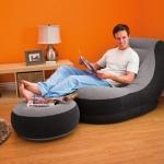 โซฟาเป่าลม INTEX รุ่น Ultra Lounge พร้อมสตูลวางขา