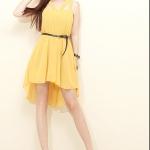 (พรีออเดอร์) เดรสแฟชั่นเกาหลี สไตล์สาวยุคใหม่ เซ็กซี่ ผ้าชีฟอง