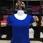 """เสื้อยืดคอกลม สีน้ำเงิน size """"M"""""""