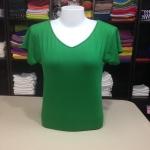 """เสื้อยืด size""""L"""" สีเขียวสด"""