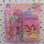 ชุดดินสอปากกา เจ้าหญฺฺิง princess ในชุดประกอบด้วย ปากกา 1 ด้าม ดินสอกด 1 แท่ง ยางลบ 1 ก้อน ใส้ดินสอกด 1 สมุดโน็ต 1 เล่ม