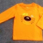 ฺBSH-211 (3Y) เสื้อ Baby Boots สีส้ม ปักลายปูยิ้มสีดำ และการ์ตูนผลไม้ Happy Halloween หลากสี