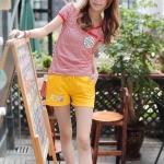 Pre Order กางเกงขาสั้นออกกำลังกายเกาหลี สกรีนลาย มีเชือกผูกเอว มี3สี
