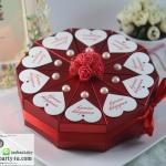 กล่องของชำร่วยงานแต่งงาน งานมงคลต่างๆ กล่องทรงขนมเค็ก 1ปอนด์มี 10ชิ้น แนวดอกไม้มุกหัวใจ มีหลายแบบให้เลือกค่ะ