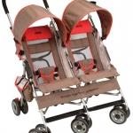รถเข็นเด็กแฝด Jeep Wrangler Twin Sport All-Weather Umbrella Stroller