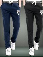Pre Order กางเกงวอร์มเกาหลีแนว Sport ทรงหลวมๆ ขายาว ปักลายโลโก้ มี6สี