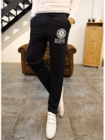 Pre Order กางเกงวอร์มเกาหลี ทรงเข้ารูป สกรีนลายสุดเท่ มีเชือกผูกเอว มี4สี