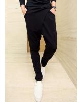 Pre Order กางเกงแนวฮาเร็มแฟชั่นเกาหลี ดีไซน์เท่ห์ทันสมัย สีดำ