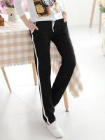 Pre Order กางเกงขายาวออกกำลังกายเกาหลี ดีไซน์เรียบๆแต่งแถบข้าง มี3สี