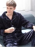 ชุดนอนแนวยุโรป ผ้ากำมะหยี่หนานุ่ม เสื้อแขนยาว+กางเกงขายาว