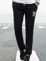 Pre Order กางเกงวอร์มใส่ออกกำลังกาย ขายาว แต่งขอบทูโทน สกรีนลาย มี4สี