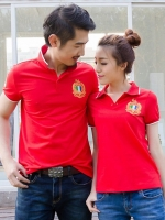 Pre Order เสื้อโปโลคู่รักแฟชั่นเกาหลี แขนส้ันคอปก ปักลายสุดเก๋ มี3สี