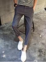 Pre Order กางเกงผู้ชายแฟชั่นสไตล์เกาหลี ขายาวพับขาสุดชิค มี2สี
