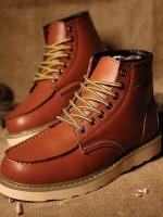 Pre Order รองเท้ามาร์ตินผู้ชาย ดีไซน์เท่ห์ทำจากหนังทรงสูง ปักตัวอักษร สไตล์ยุโรป มี3สี