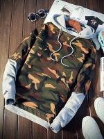 Pre Order เสื้อกันหนาวลายพราง แฟชั่นเกาหลี แขนยาวมีHOOD มี3สี