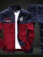 Pre Order ชุดวอร์มแฟชั่นเกาหลี เสื้อแนวเบสบอลแขนยาว+กางเกงขายาว มี5สี