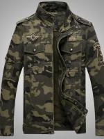 Pre Order เสื้อแจ็คเก็ตผู้ชายลายพราง แนวกองทัพ ดีไซน์คลาสสิก มี2สี