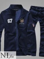 Pre Order ชุดวอร์มเกาหลี เสื้อแขนยาว ผ้ากำมะหยี่ ปักลายโลโก้ 67+กางเกงขายาว มี2สี