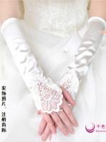((พร้อส่ง)) ถุงมือลายลูกไม้ด้านหลังฝ่ามือ ให้ความเรียบหรูและอ่อนหวาน มีสีขาว ครีม แดง และ ดำค่ะ