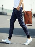 Pre Order กางเกงลำลองทรงฮาเร็ม สไตล์เกาหลี ลายตาราง ขาจั้มแต่งกระเป๋าข้าง มี3สี