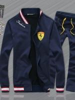 Pre Order ชุดวอร์มเทรนด์ Sport เสื้อแจ็ตเก็ตแนวเบสบอล ปักลาย Ferrari(เฟอร์รารี่)+กางเกงขายาว มี3สี