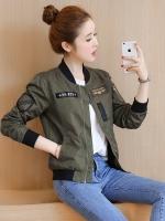 Pre Order เสื้อแจ็คเก็ตแฟชั่นเกาหลี แขนยาวแนวเบสบอล มี 2 สี