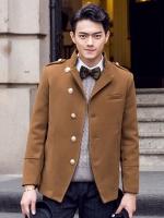 Pre Order เสื้อแจ็กเก็ตแขนยาวเกาหลี แต่งกระดุม ดีไซส์คอปกเสื้อ <มี3สี>